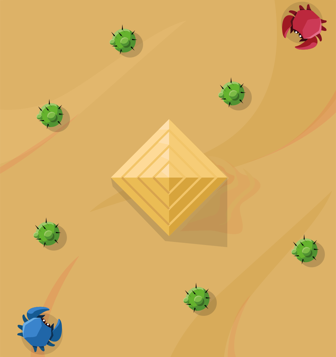 MightyCrabs Map: Pyramide